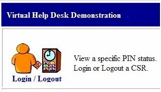 Virtual Help Desk menu